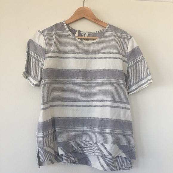 4059dd36 Lou & Grey Tops | Lou Grey Striped Linen Shirt Size M | Poshmark